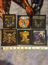 Megadeth Anthrax Overkill Vintage Patches Bundle
