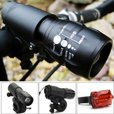 2 Pcs CREE Q5 LED Mountain Bike Bicycle Cycle Cycling Zoomable Front Head Lights
