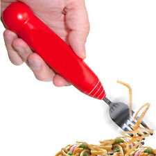 SPAGHETTI FORK WITH SPINNING ROTATING HEAD TWIRLING PASTA POT NOODLE ELECTRIC UK
