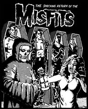VINTAGE RETURN OF THE MISFITS SHIRT!  XL.  RARE HORROR PUNK.  I Want Your Skull