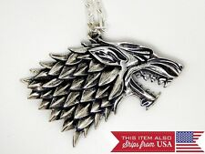 Fashion Hot Game of Thrones Necklaces : Stark Alloy New 2 sided