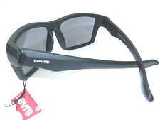 NEW men's LEVI'S LS200-2 black square sunglasses