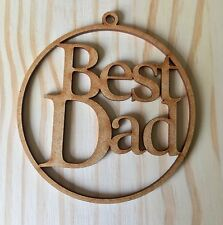 "Laser Cut ""Best Dad"" Christmas Tree Bauble, Gift Tag"