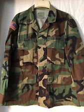 US Army Woodland camo heavy first pattern BDU Medical Brigade MEDIUM-SHORT