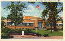 Canton Ohio W.H.B.C. Broadcasting Station Postcard 1946