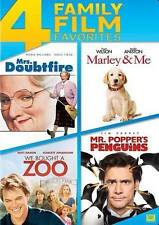 Marley & Me/Mr. Popper's Penguins/Mrs. Doubtfire/We Bought a Zoo (DVD, 2014)