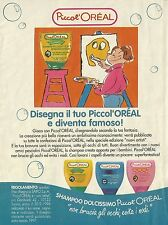 X7401 Shampo Piccol'Orèal - Pubblicità del 1996 - Vintage advertising