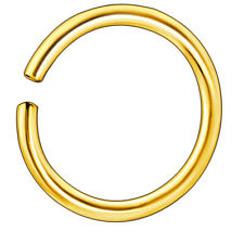 2pcs 8 mm/20g Thin Gold Nose or Lip Ring Hoop Piercing Seamless