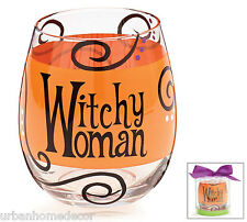 New Witchy Woman Stemless Wine Glass Witch Gift Halloween Party Burton+Burton