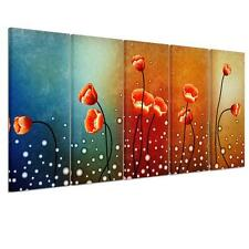 5pcs/Set Canvas Print Home Decor Wall Art Painting Picture-Poppy Flower Unframed