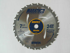 "2 Pack IRWIN MARATHON 7-1/4"" Carbide Tiped Saw Blade 24T Framing / Ripping"