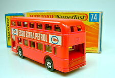 Matchbox SF Nr.74A Daimler Bus 2farbig pink mit d'roter Bodenplatte top in Box