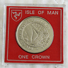 ISLE OF MAN 2000 GLOBAL CHALLENGE DIAMOND FINISH CROWN - cased