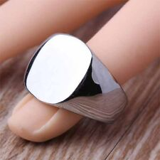 Wholesale Lot 3 Piece Stainless Steel Fashion Simple Men's Finger Rings Big Size