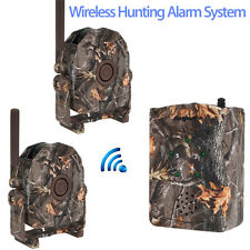 360° Wireless Hunting Home&Security Alarm Motion Dectect 1x Receiver+2 Detector