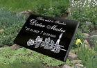 Grabstein Grabplatte Grabtafel Gedenktafel mit Inschrift und Motiv ca.20x30x3cm