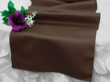 """Chocolate Brown LAMOUR MATTE SATIN 12x108"""" Table RUNNER Wedding Decorations"""