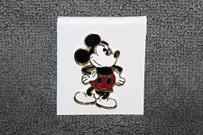"""VINTAGE DISNEY MICKEY MOUSE HANDS ON HIPS HINGE BACK PIN 1 1/8"""""""