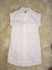 J CREW Short-Sleeve Cotton Shirtdress Sz XS White #c4230 $98 SOLD OUT! CURRENT!