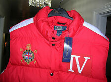 Polo Ralph Lauren Snow Red/White Down Puffy Vest Mens(men's)Large(L) new