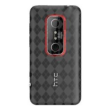 Fosmon Argyle Checker TPU Protector Case Cover for Sprint HTC EVO 3D -Smoke Gra