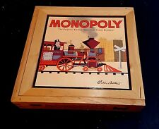 MONOPOLY NOSTALGIA GAMES SERIES IN A WOODEN COLLECTOR'S BOX 2001
