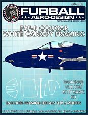 "1/48 Furball  ""F9F-8 Cougar Canopy Seals""  Decals for the Kittyhawk Kit"