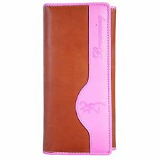 Browning Women's Pink and Brown Leather Clutch Wallet Camouflage BGT1093