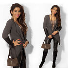 Fashion Womens Lady Spring Coat Jacket Long Sleeve Casual Outerwear Lapel Tops