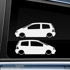 (1098) 2x Fun Sticker Aufkleber / Low and Slow Renault Twingo MK1  Stickerbomb