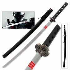GI JOE SNAKE EYES Ninja Movie Full Tang Katana Sword  Action Black 40""