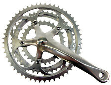Alloy / Steel bike cycle road triple crank crankset chainwheel 30/42/52 x 170mm