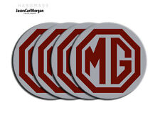 MG ZR ZS ZT Alloy Wheel Centre Caps Badges Burgundy Silver 80mm Logo Cap Badge