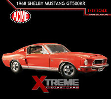 ACME A1801805 1:18 1968 FORD SHELBY MUSTANG GT500KR RED/ORANGE SPL COLOR WT5185