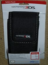 NINTENDO 3DS ORIGINAL OFFICIAL CONSOLE POUCH CASE WALLET HOLDER BRAND NEW! Black
