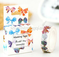 Colored Bow Style paper Sticky Lable Adhesive Sticker Decorative Washi Tape