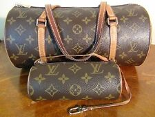 SALE!!! US SELLER!!! Authentic LOUIS VUITTON PAPILLON 30 HAND BAG & POUCH