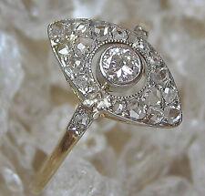 ARTDECO Bague dans de 14kt Or Bague Femmes Bague antikring avec diamant with Diamond