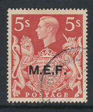 M.E.F.1943-47 5/- RED WITH 'T' GUIDE MARK CW 20a FINE USED.