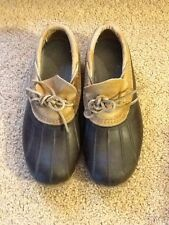 LL BEAN WOMEN'S SIZE 7 EM 3 INCH BROWN HUNTING MOCCASIN SHOE MADE IN MAINE
