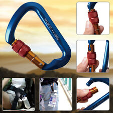 ALUMINUM CARABINER STEEL SCREW LOCKING D-SHAPE HOOK 6720lbs / 30KN FOR CLIMBING
