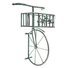 Rustic Antique Turquoise Bicycle Metal Wall Decor with Planter Box
