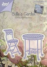 JOY CRAFTS Die Cutting Embossing Stencil Billie's BISTRO TABLE & CHAIR 6002/0376