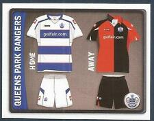 PANINI NPOWER CHAMPIONSHIP 2011- #298-QUEENS PARK RANGERS-HOME & AWAY KIT