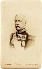 Royalty CDV The French General Mac-Mahon in uniform Photo Flamant Paris 1870c