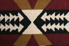 100% Cotton Native Indian Print Dress Fabric Material (Beige/Burgundy/Mustard)