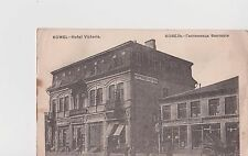 "Old Russia Postcard Jewish Stettl Kovel  Year 1916 Ковель Гостинница ""Виктория"""
