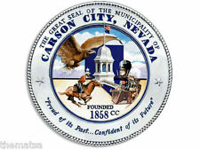 "CARSON CITY NEVADA SEAL 4"" HELMET CAR BUMPER DECAL STICKER MADE IN USA"
