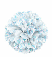 Large Snowflakes paper Fluffy hanging decoration tissue Pom Poms Puff Ball