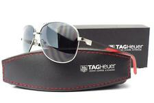 New Tag Heuer TH 0884 Automatic Sunglasses Frames Silver Red 102 Authentic 62mm